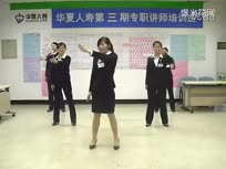 """浪漫樱花""""华夏人寿保险""""员工手语舞浪漫樱花"""