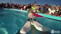 真鼠不露相!小松鼠竟是极限滑水运动员