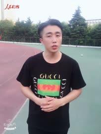我跑我秀马拉松主持人大赛参赛选手许昌学院布日格德