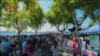 【大美中国 看壮丽河山】国庆假期延时拍摄西湖断桥人山人海壮观场面