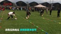 【金秋垄上行】农村趣味运动会滚南瓜 庆祝南瓜大丰收