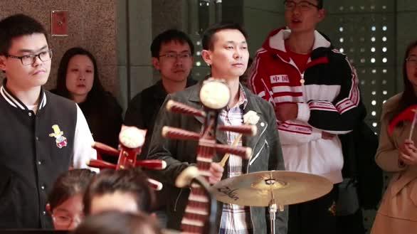 """中国科学院大学""""我和我的祖国""""快闪活动"""
