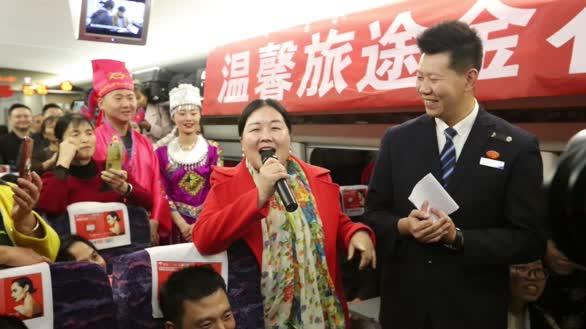 """云南在粤务工人员乘""""工会平安返乡号""""专列回家过年"""