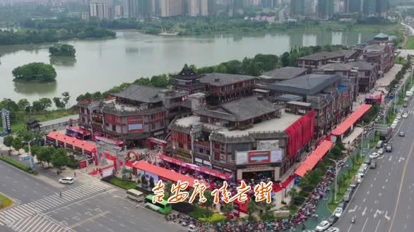 航拍吉安:庐陵老街 人文旅游风情小镇