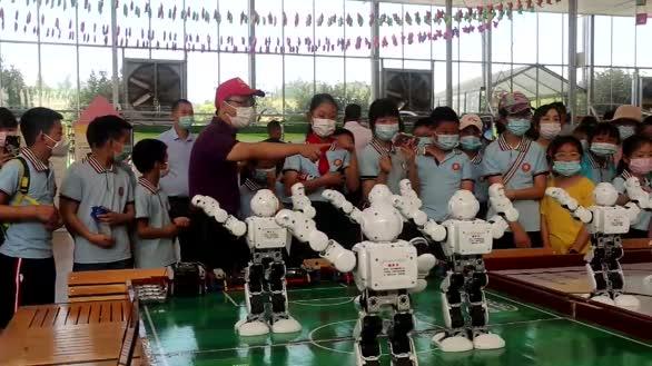 机器人编舞,湖北宜昌乡村儿童感受前沿科技