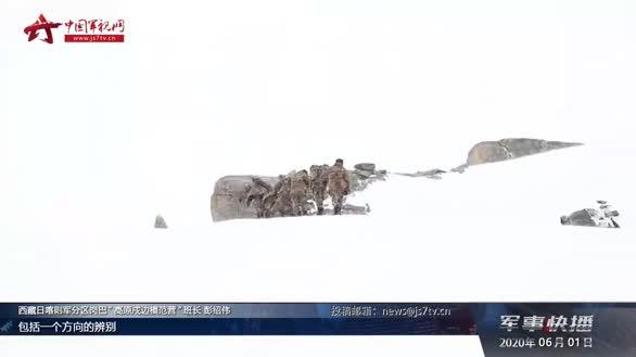 新闻特写:海拔6000米 新兵尚开洛的巡逻初体验