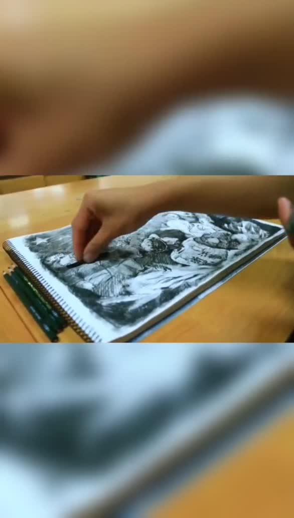 战士执笔作画,记录抗洪一线最美瞬间!