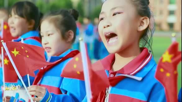 山东东平县佛山小学师生心向党 唱支山歌给党听
